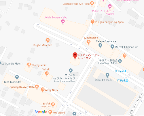 hawaiian restaurant shaka map